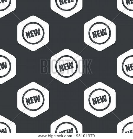 Black hexagon NEW sign pattern