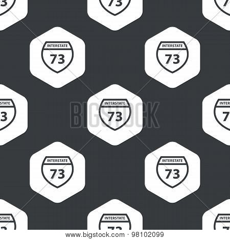 Black hexagon Interstate 73 pattern