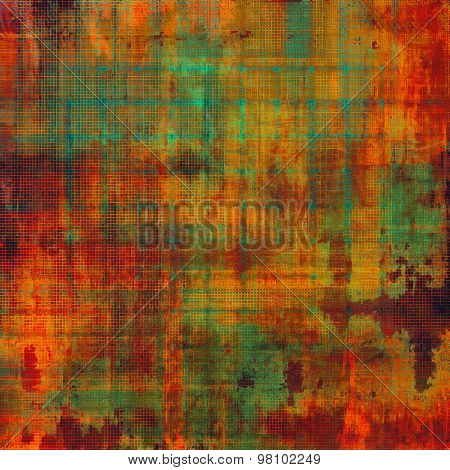 Retro background with grunge texture. With different color patterns: yellow (beige); brown; red (orange); green