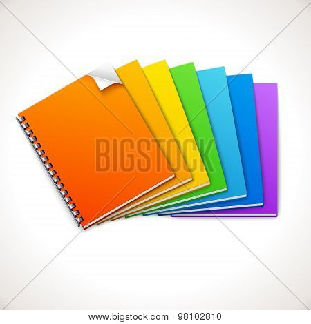 Spiral Ring Notebooks Rainbow
