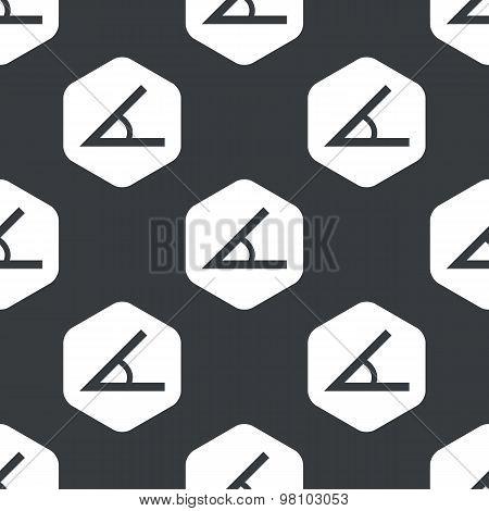 Black hexagon angle pattern