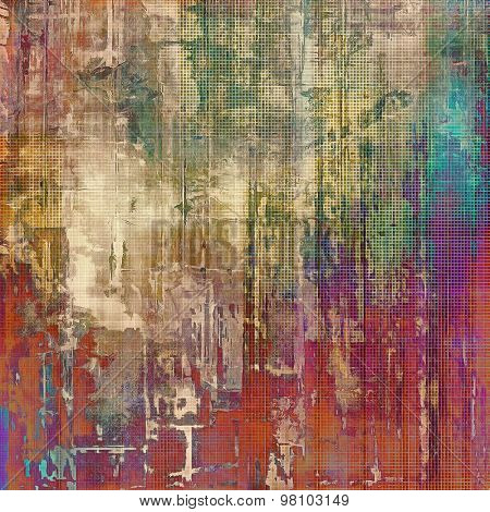 Old Texture. With different color patterns: brown; blue; purple (violet); red (orange)