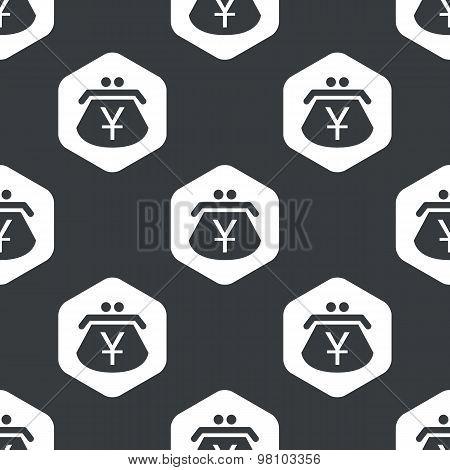 Black hexagon yen purse pattern
