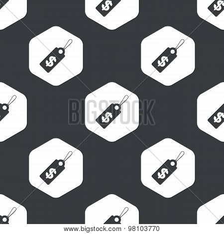Black hexagon dollar price pattern