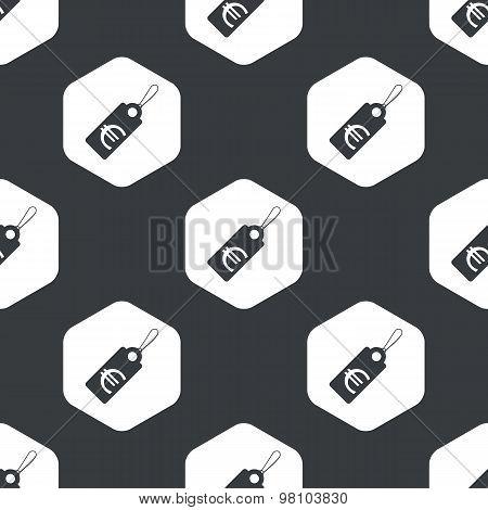 Black hexagon euro price pattern