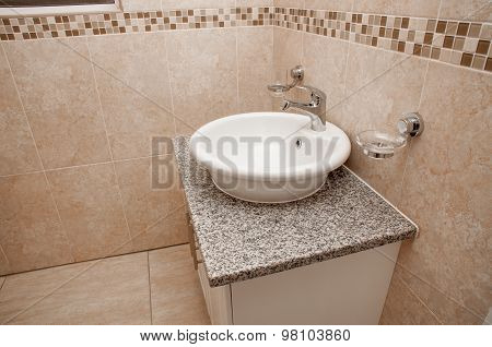 Round Basin On Granite Top