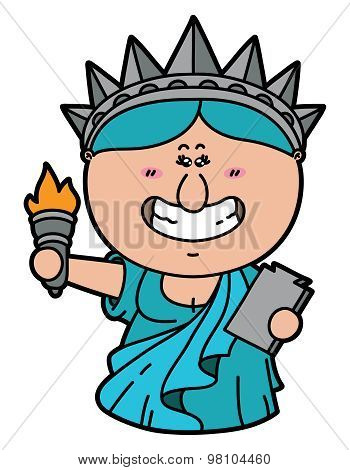 Kawaii lady liberty