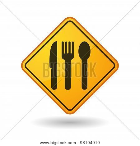 Awareness Sign With  Cutlery
