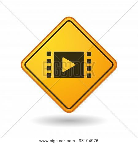 Awareness Sign With  A Multimedia Sign