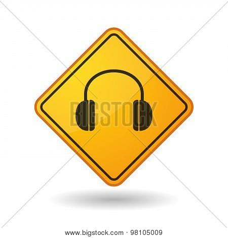 Awareness Sign With  A Earphones