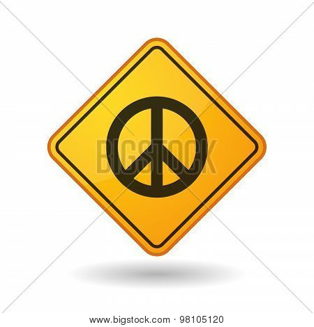 Awareness Sign With  A Peace Sign