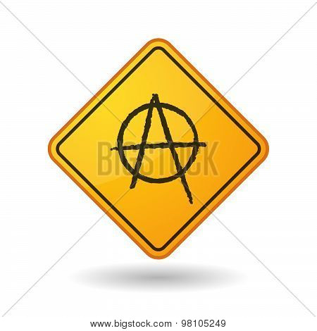 Awareness Sign With  An Anarchy Sign