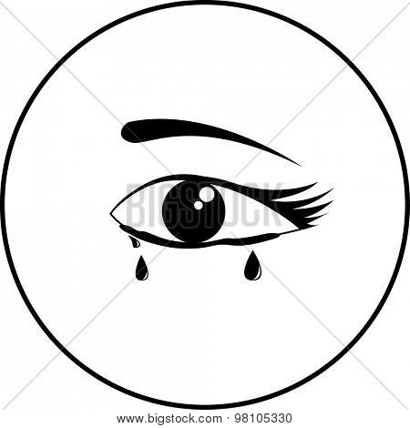 crying eye symbol