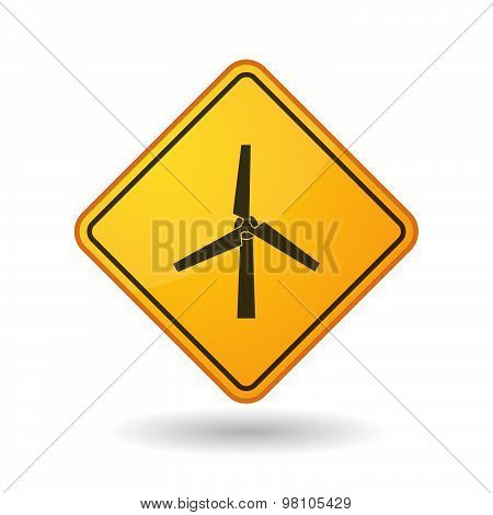 Awareness Sign With  A Wind Generator
