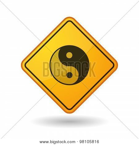 Awareness Sign With  A Ying Yang