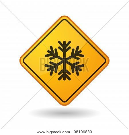 Awareness Sign With  A Snow Flake