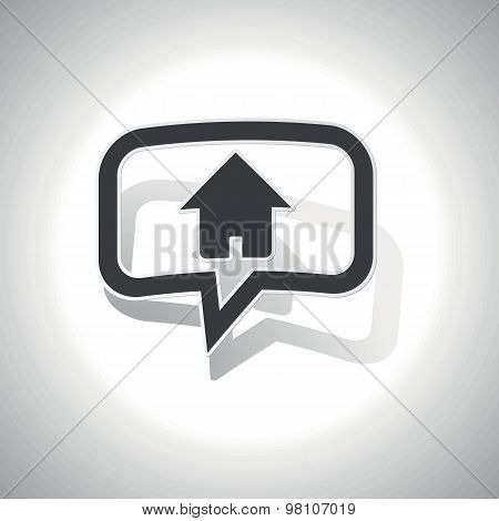 Curved home message icon