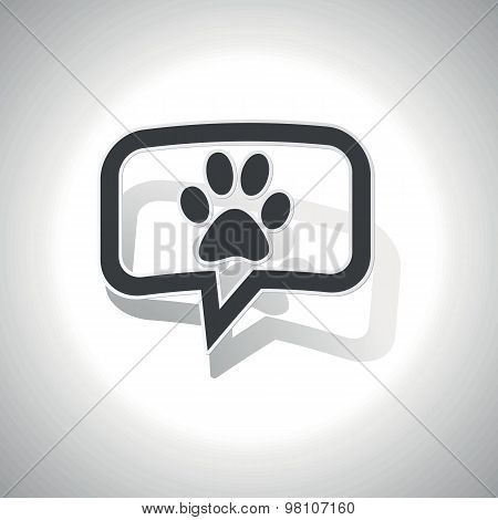 Curved animal message icon