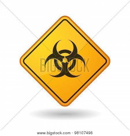 Awareness Sign With  A Biohazard Sign