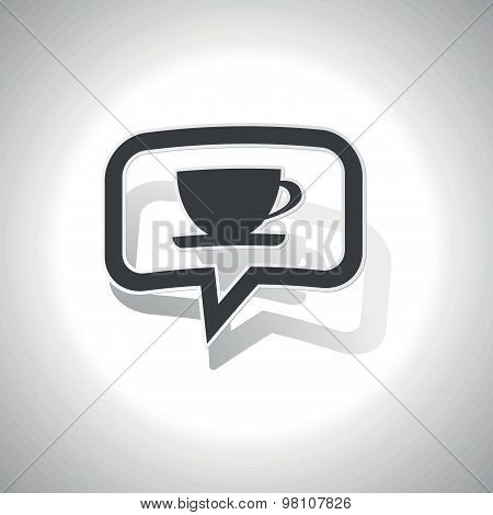 Curved cup message icon