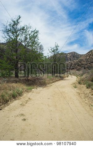 Long Dirt Road Through California