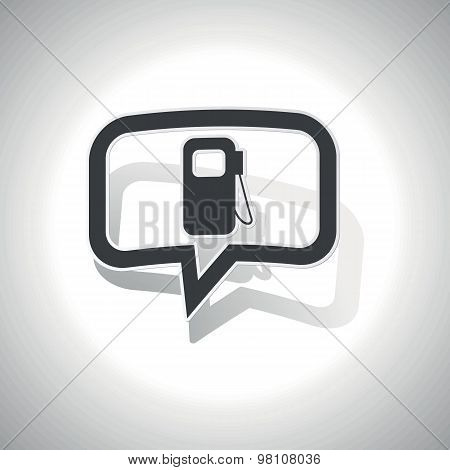 Curved gas station message icon