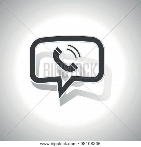 Curved calling message icon