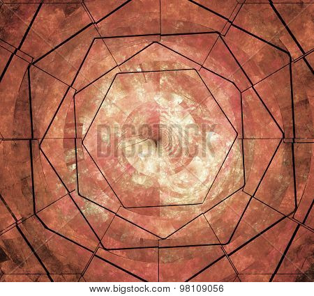 Illustration Abstract Fractal Background With Stone Grunge Squar