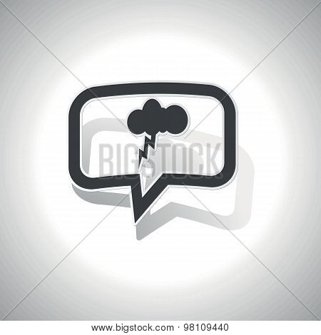 Curved thunderstorm message icon