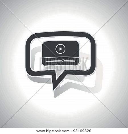 Curved mediaplayer message icon