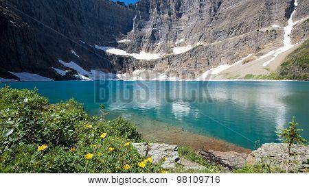 Summer View Of Iceberg Lake, Montana