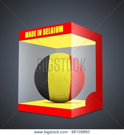 Soccer Balls With Team Flag From Belgium