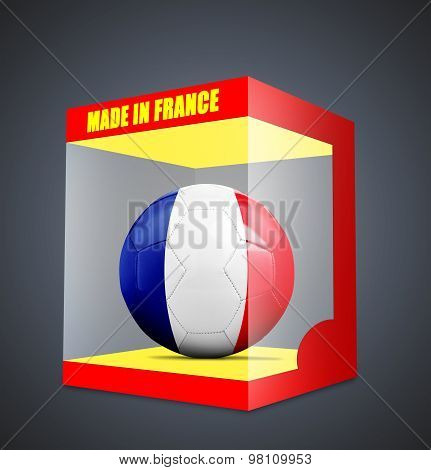 Soccer Balls With Team Flag From France
