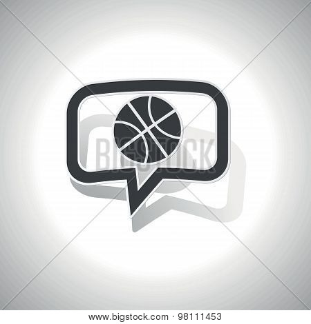 Curved basketball message icon
