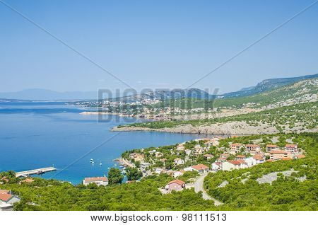 View of the sea shore in Dalmatia, Croatia
