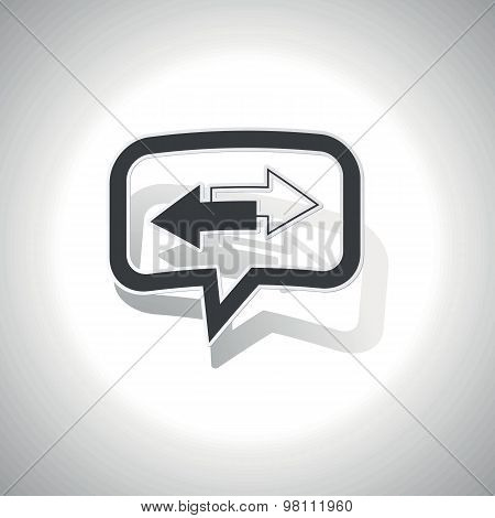 Curved opposite message icon