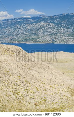 Pag island in Croatia