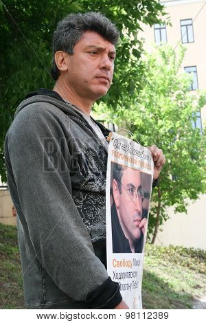 Politician Boris Nemtsov To Protest In Support Of Khodorkovsky