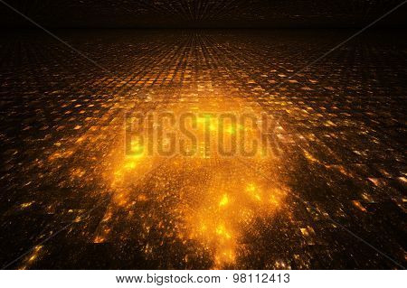 Fractal Illustration Background Night City From A Height