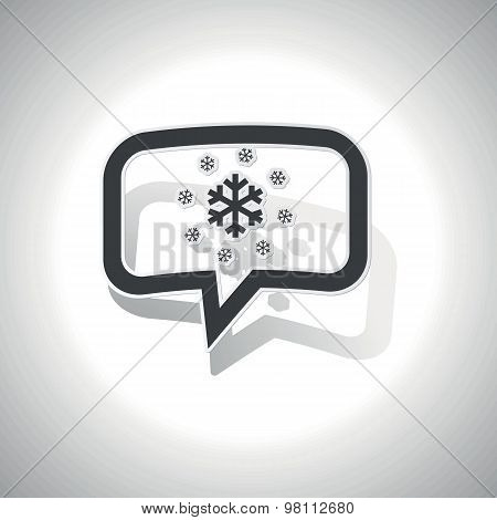 Curved snow message icon