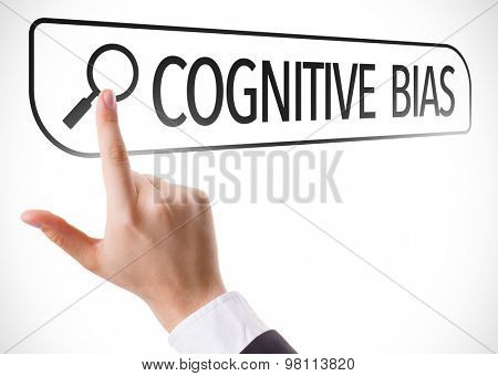 Cognitive Bias written in search bar on virtual screen