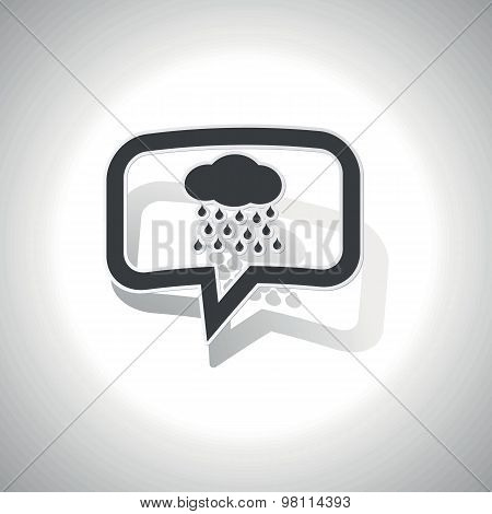 Curved rain message icon
