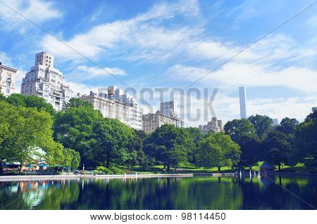 New York City Central Park In Summer