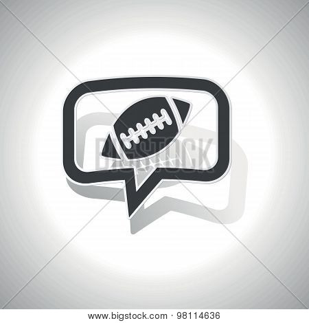 Curved rugby message icon