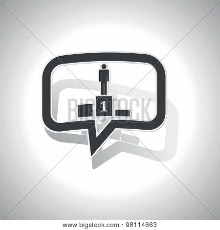 Curved pedestal message icon