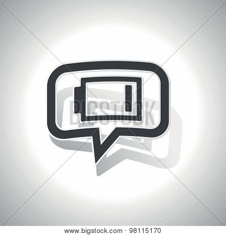 Curved low energy message icon
