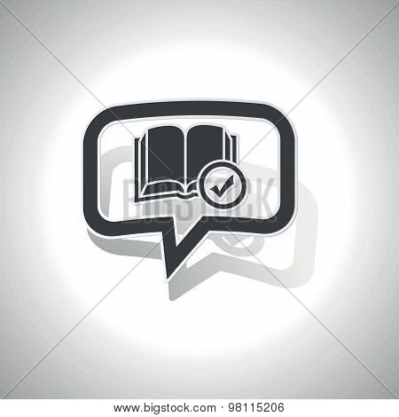 Curved select book message icon