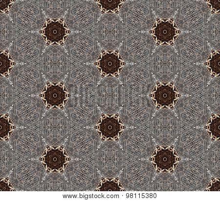 Seamless wire mesh pattern.