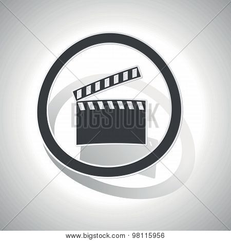 Curved clapperboard sign icon