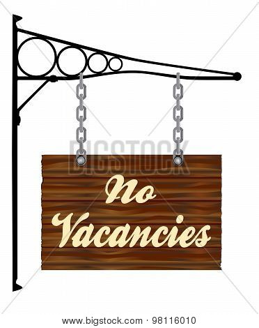 No Vacancies Hanging Sign